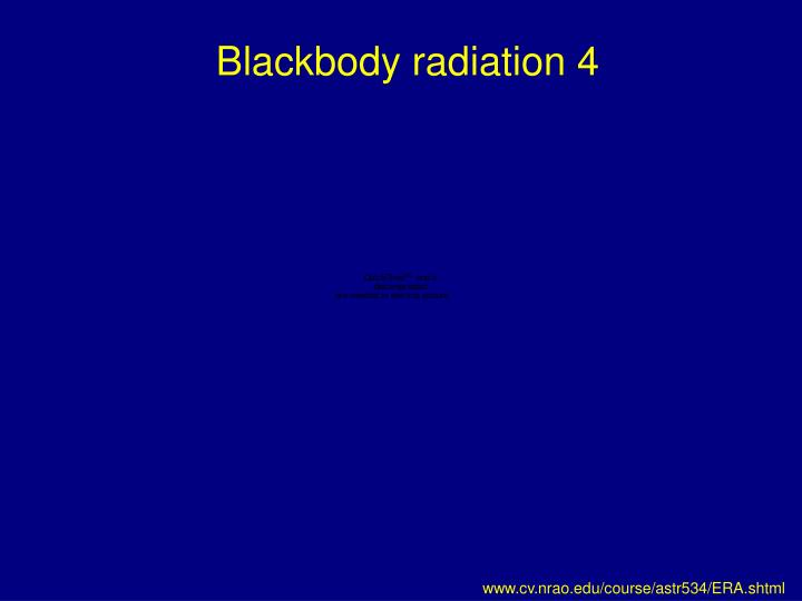 Blackbody radiation 4