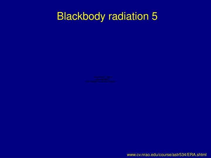 Blackbody radiation 5