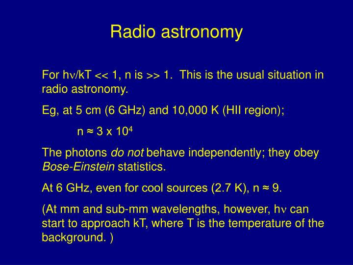 Radio astronomy