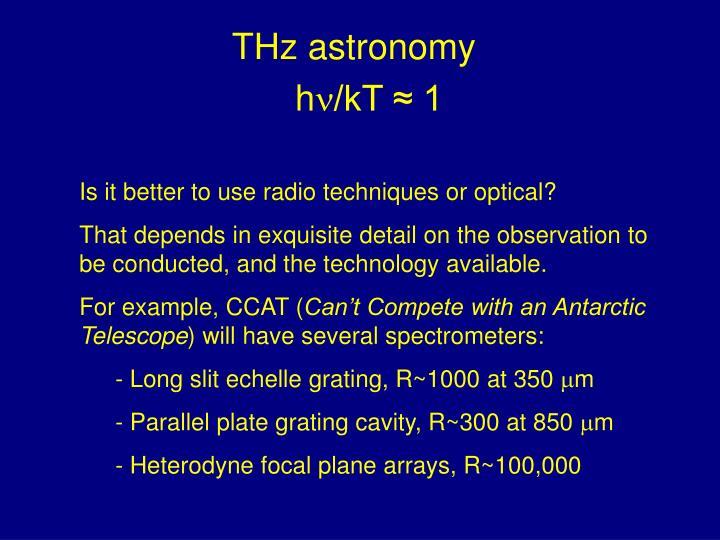 THz astronomy