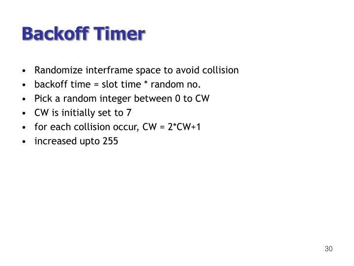 Backoff Timer