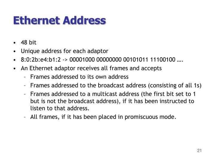 Ethernet Address