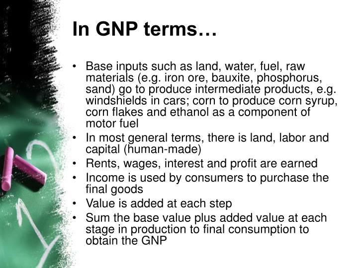 In GNP terms…