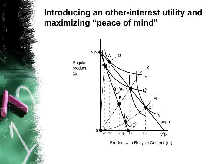 "Introducing an other-interest utility and maximizing ""peace of mind"""