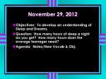 november 29 2012
