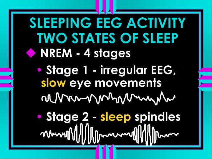 SLEEPING EEG ACTIVITY