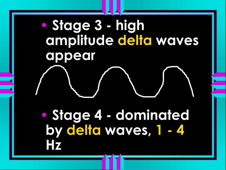 Stage 3 - high amplitude