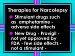 therapies for narcolepsy