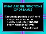what are the functions of dreams