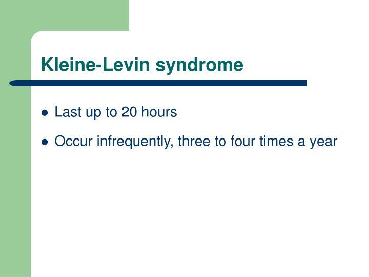 Kleine-Levin syndrome