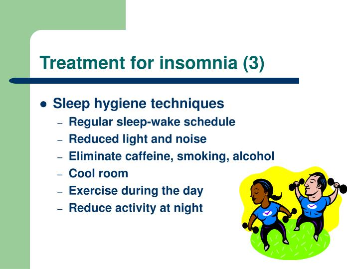 Treatment for insomnia (3)