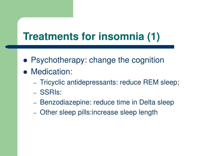 Treatments for insomnia (1)