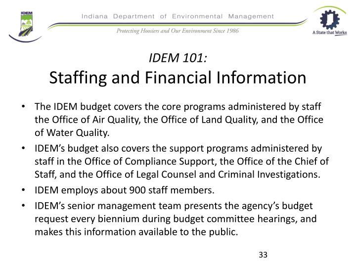 IDEM 101: