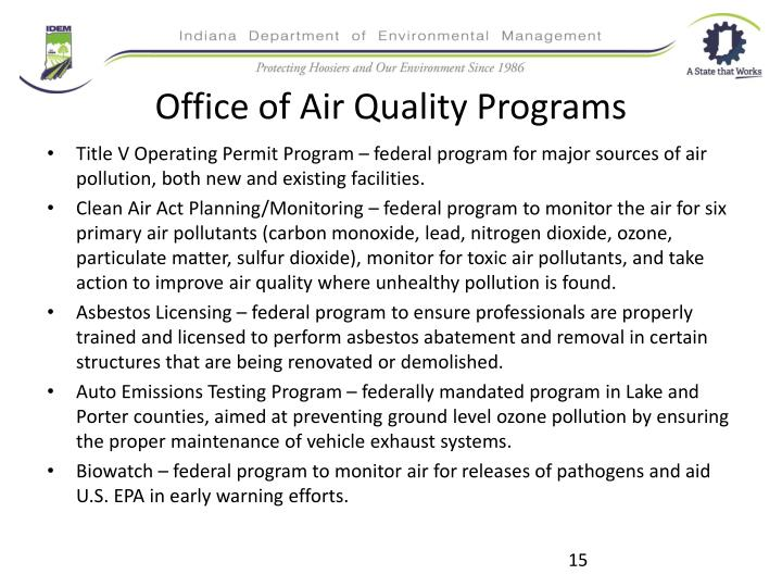 Office of Air Quality Programs