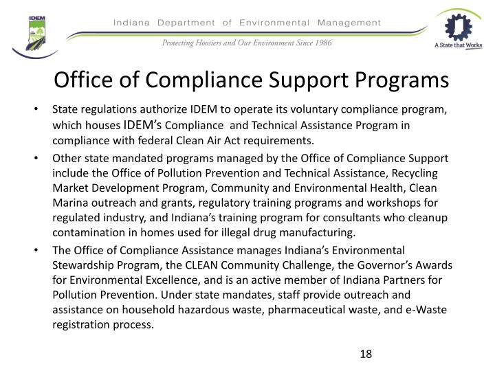 Office of Compliance Support Programs
