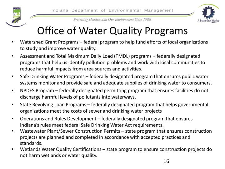Office of Water Quality Programs