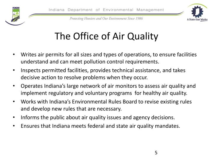 The Office of Air Quality