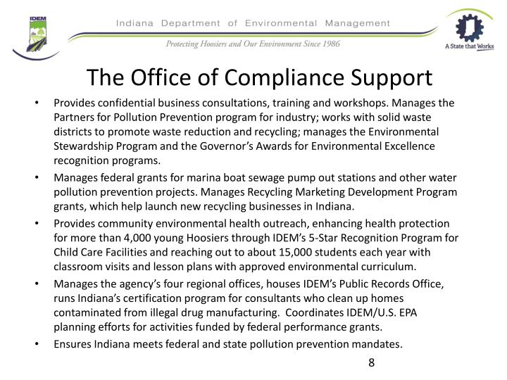 The Office of Compliance Support