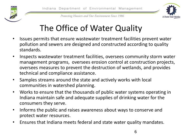 The Office of Water Quality