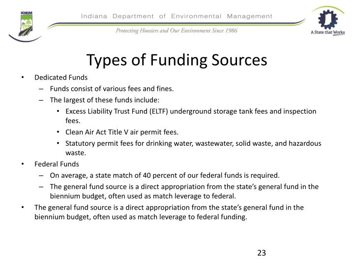 Types of Funding Sources