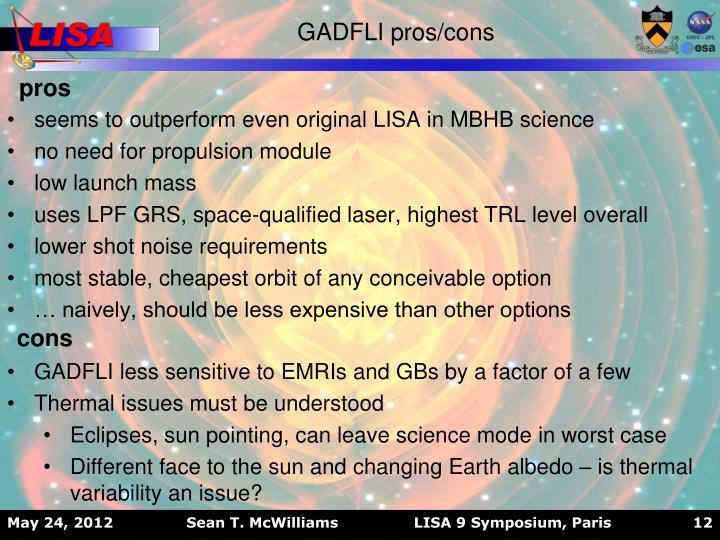 GADFLI pros/cons