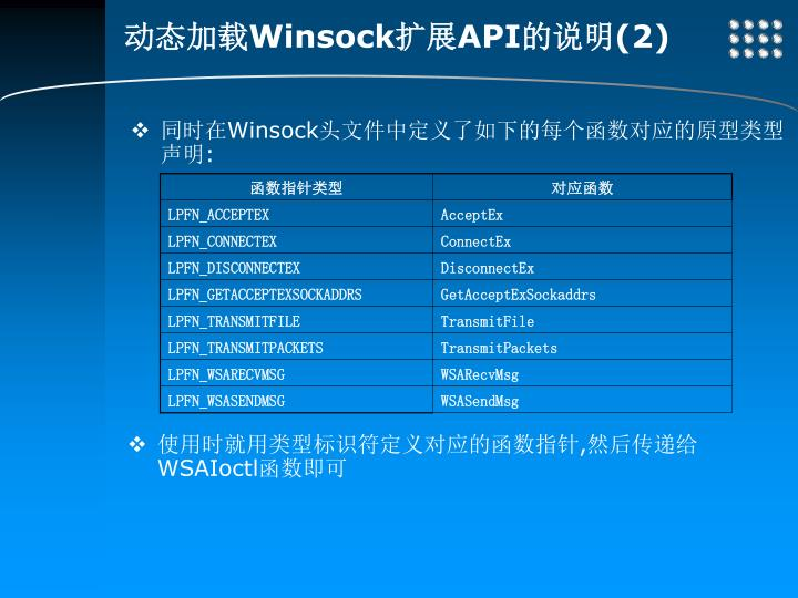 动态加载Winsock扩展API的说明(2)