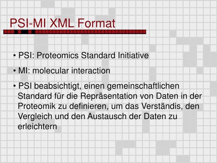 PSI-MI XML Format
