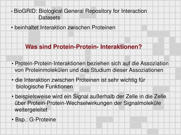 Was sind Protein-Protein- Interaktionen?