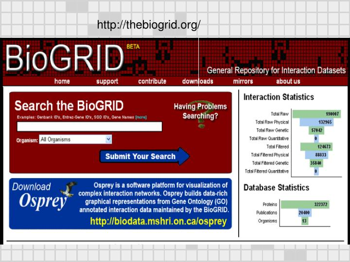 http://thebiogrid.org/