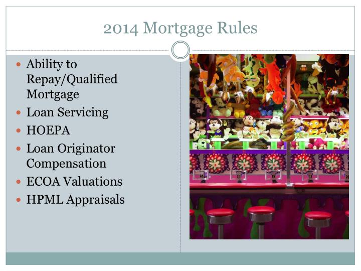 2014 Mortgage Rules
