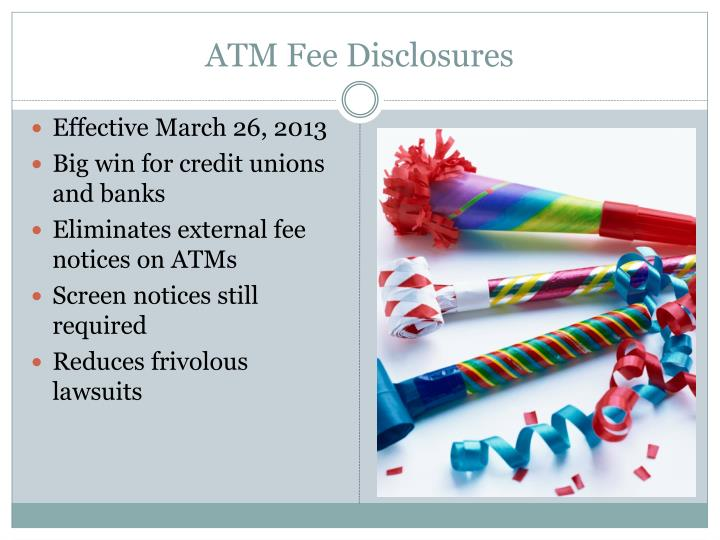 ATM Fee Disclosures