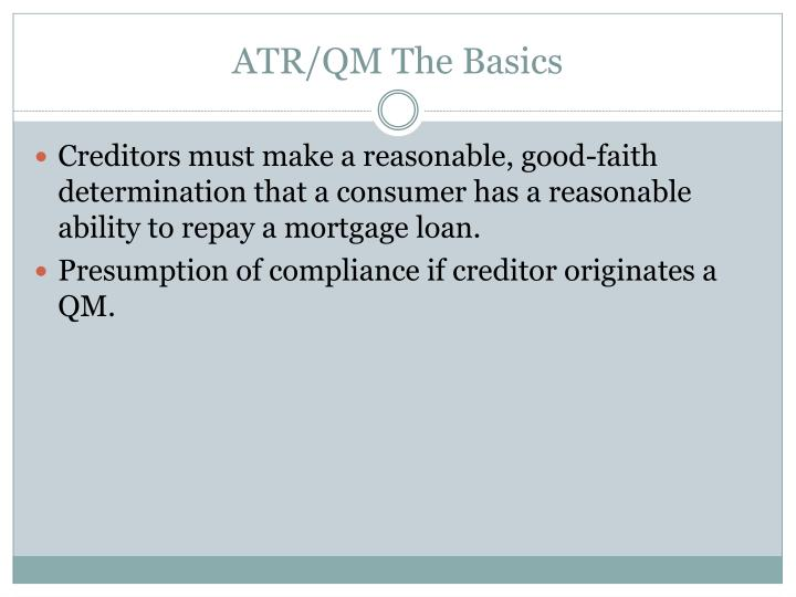 ATR/QM The Basics