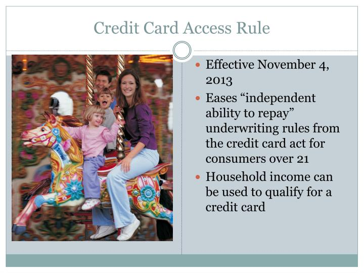 Credit Card Access Rule