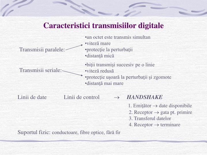 Caracteristici transmisiilor digitale