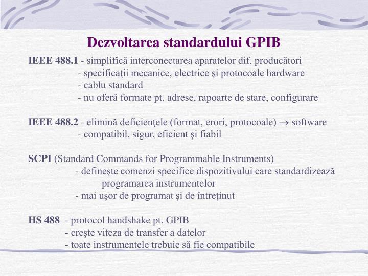 Dezvoltarea standardului GPIB