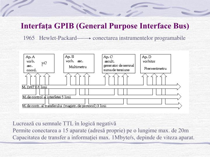 Interfaţa GPIB (General Purpose Interface Bus)