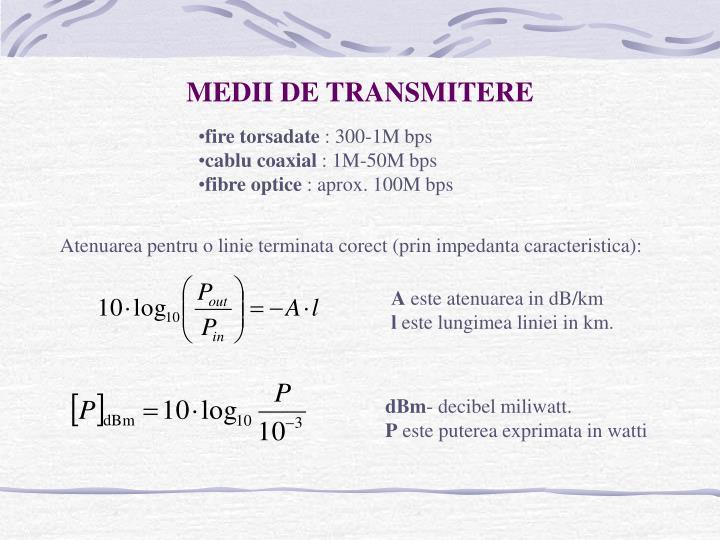 MEDII DE TRANSMITERE