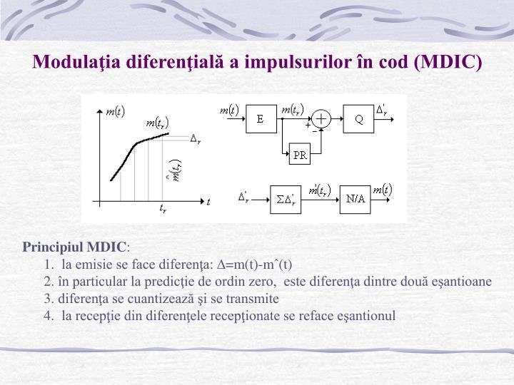 Modulaţia diferenţială a impulsurilor în cod (MDIC)