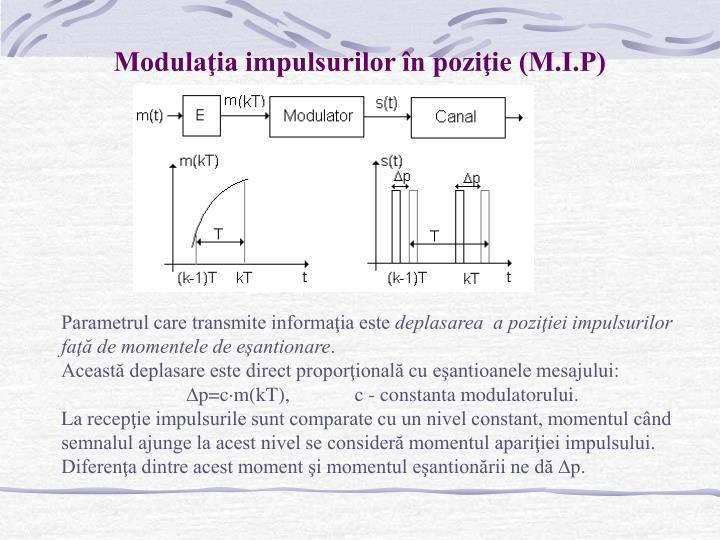 Modulaţia impulsurilor în poziţie (M.I.P)