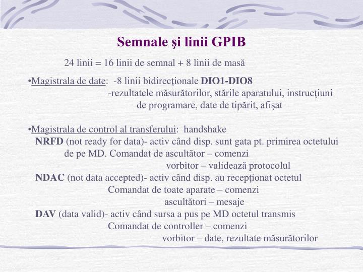 Semnale şi linii GPIB