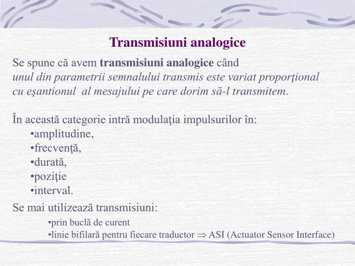 Transmisiuni analogice
