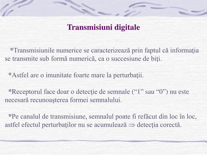 Transmisiuni digitale