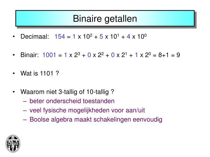Binaire getallen