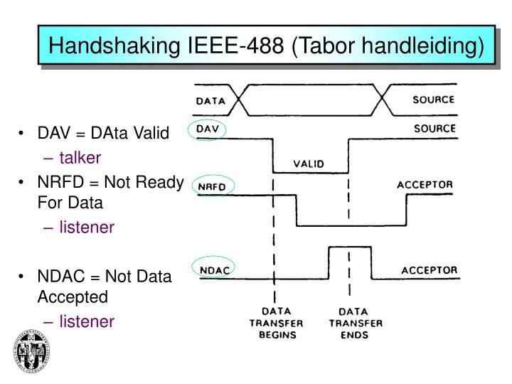 Handshaking IEEE-488 (Tabor handleiding)