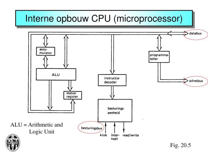 Interne opbouw CPU (microprocessor)