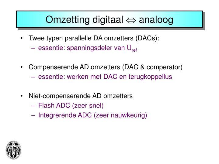 Omzetting digitaal