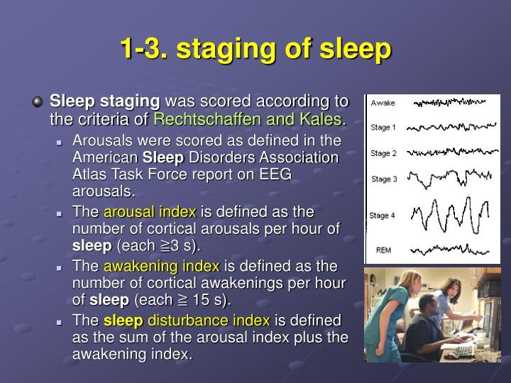 1-3. staging of sleep