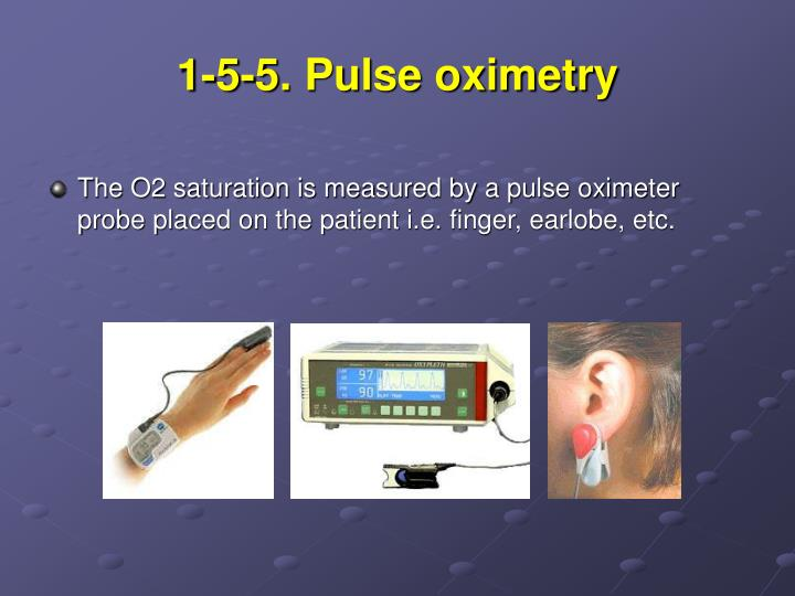 1-5-5. Pulse oximetry