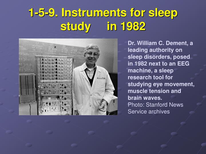 1-5-9. Instruments for sleep study     in 1982