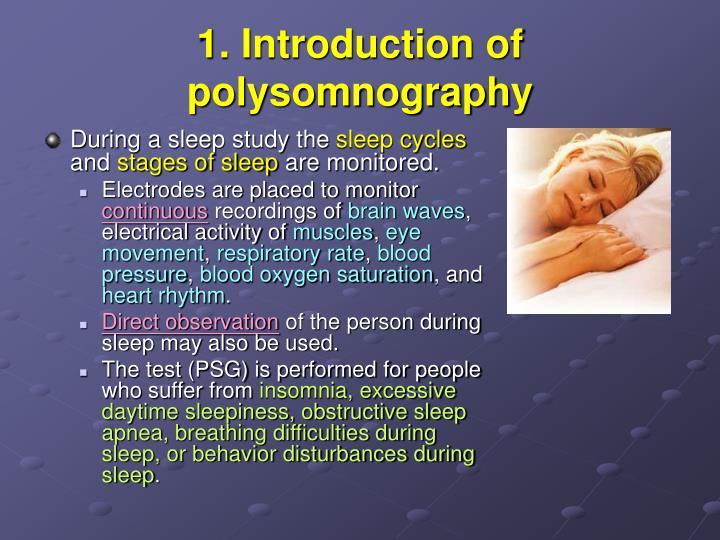 During a sleep study the